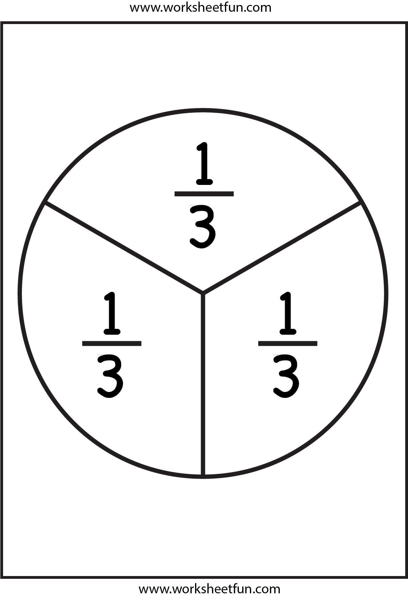 small resolution of Fraction Circles - 11 Worksheets - 1/2