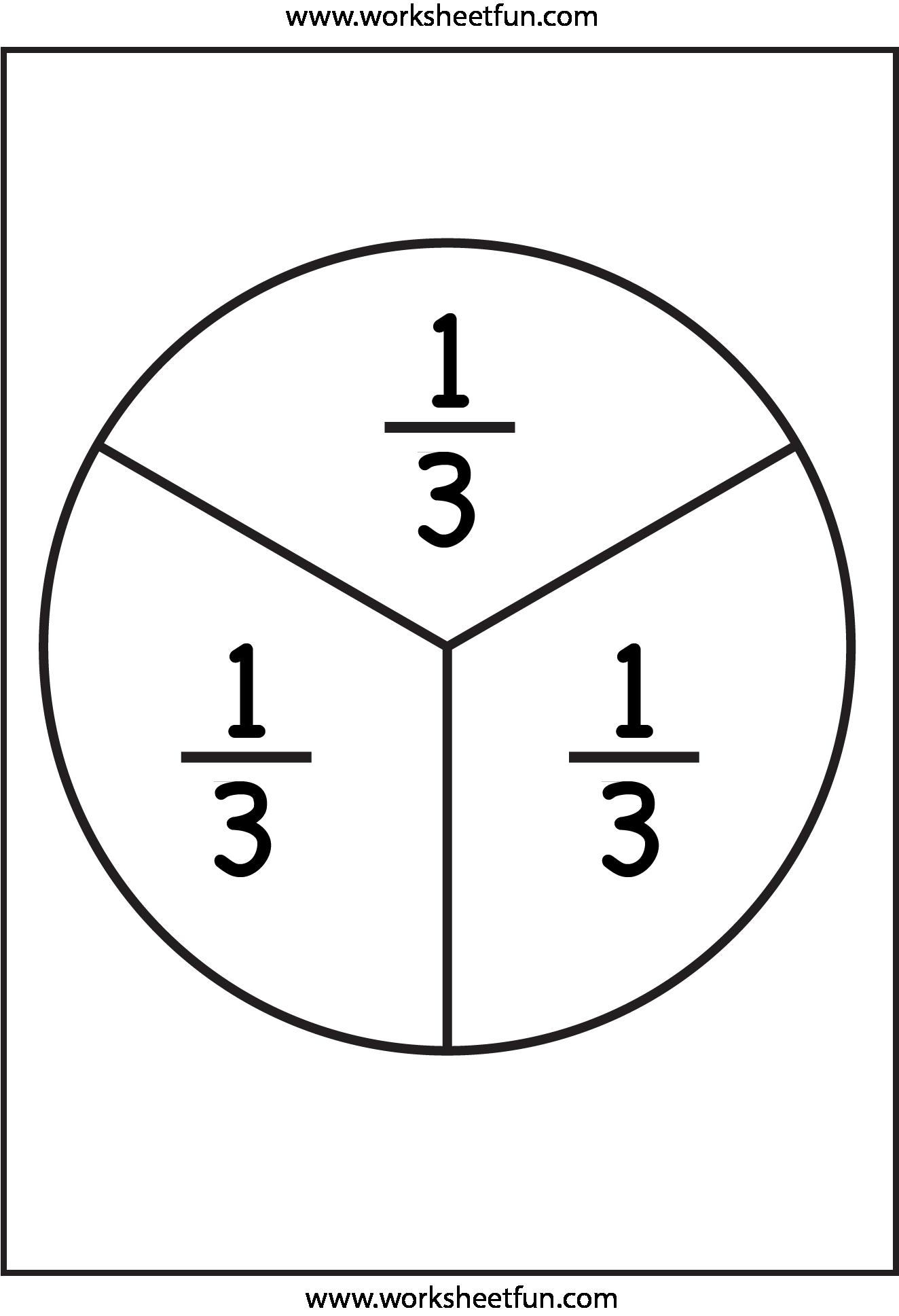 Fraction Circles - 11 Worksheets - 1/2 [ 1937 x 1324 Pixel ]