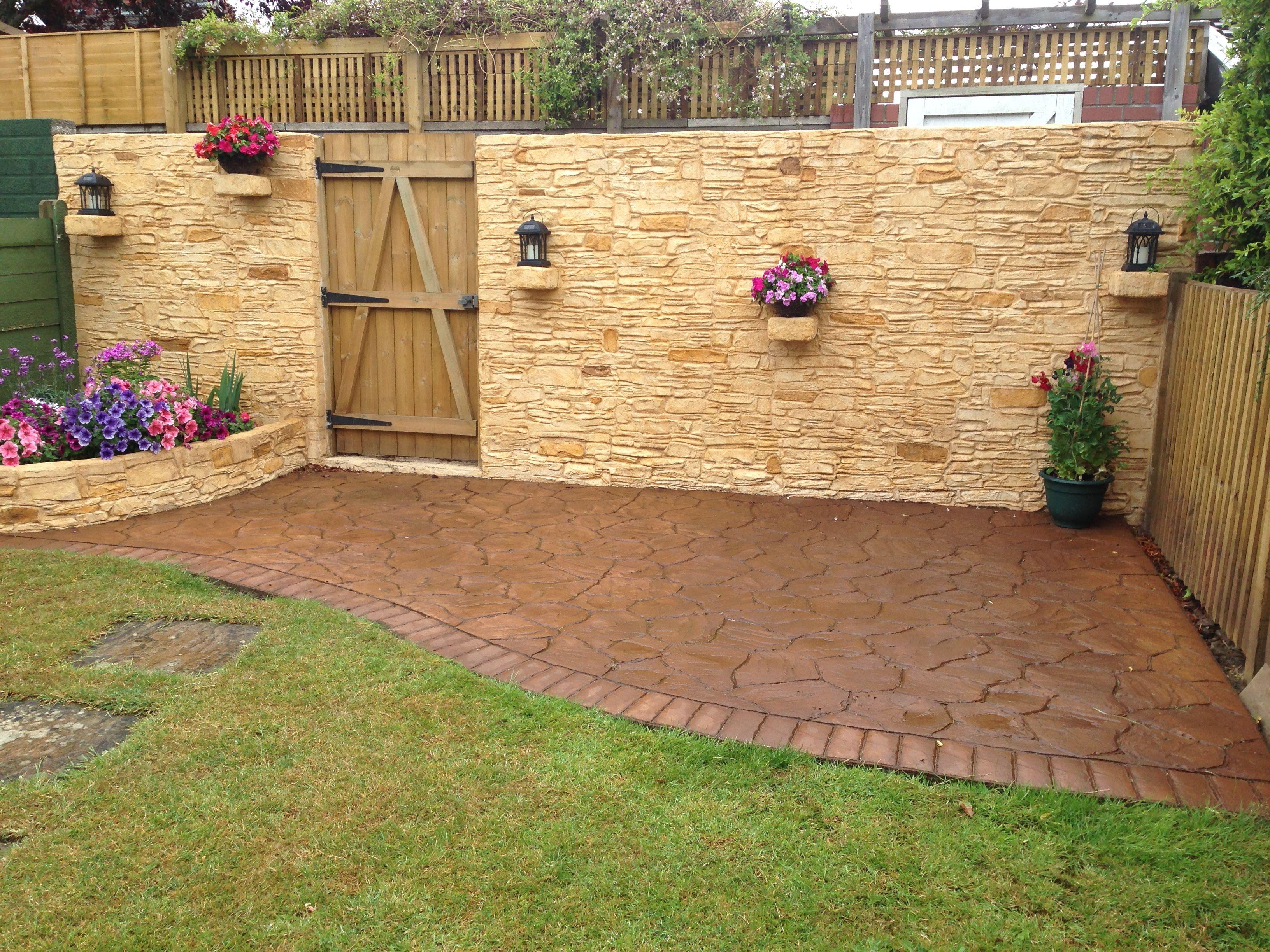 Finished Wallcrete - J Grant - Bristol Inc Pattern Imprinted ...