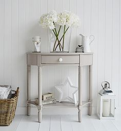 Console Tables For Hall And Living Room Furniture In Grey, White And Cream.  The. Half Moon ...