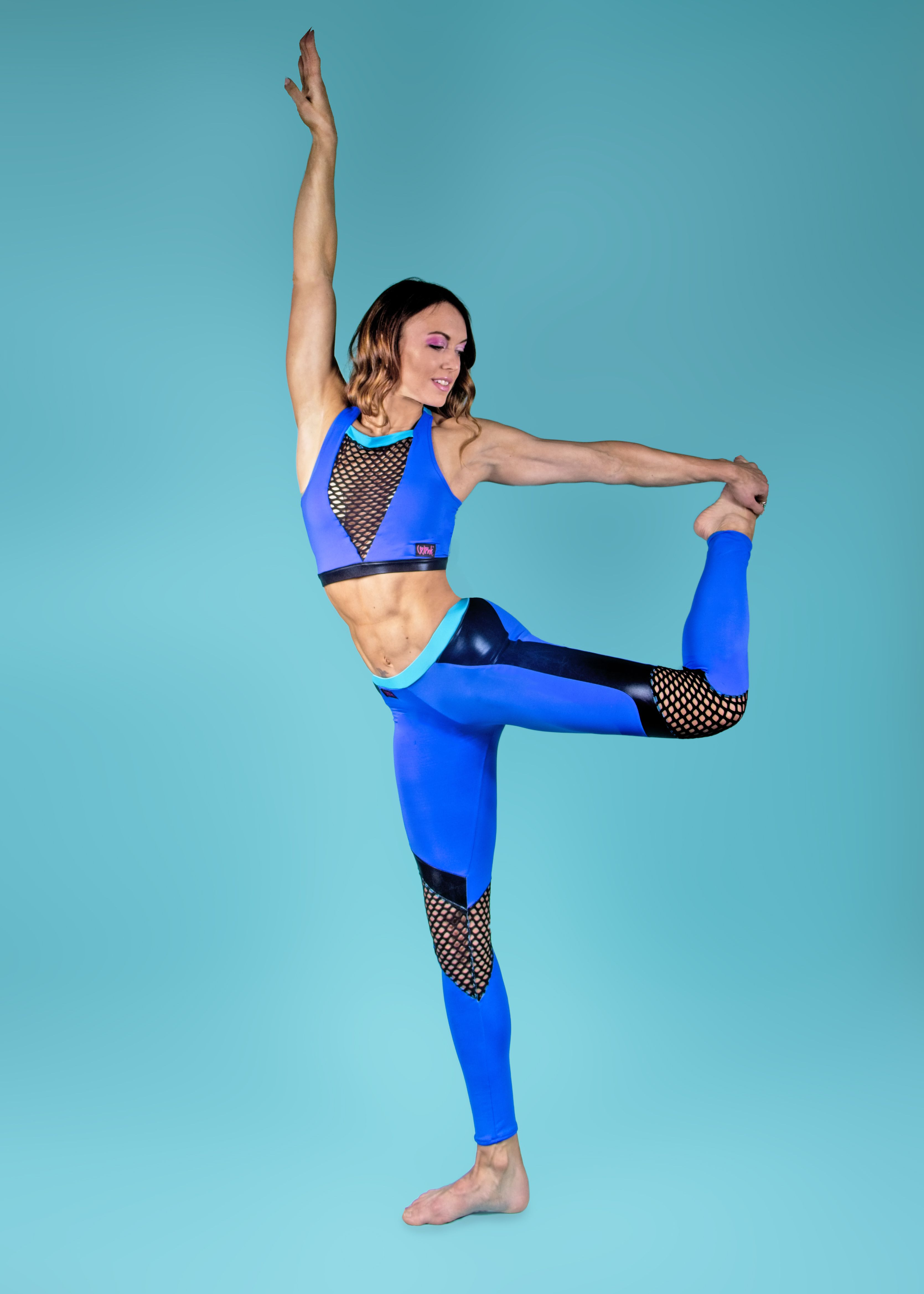 Royal Blue and Turquoise Camilla Set | Pole fitness ...