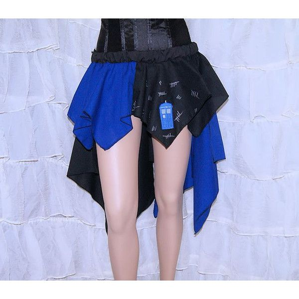 Doctor Blue Police Box Silence Bustle Flare Cosplay Skirt Adult All... ($55) ❤ liked on Polyvore featuring skirts, grey, women's clothing, flared skirt, gray skirt, grey skater skirt, long circle skirt and gray skater skirt