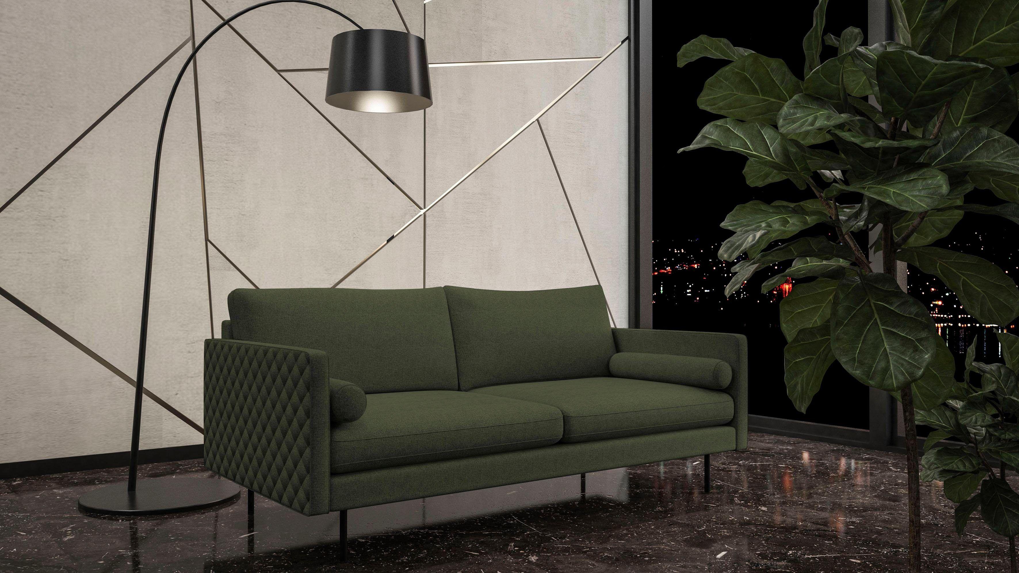 Auch Mit Grunen Sofas Gibst Du Deinem Wohnzimmer Den Botanical Touch Places Of Style 3 Sitzer Sicilia Mit Losen Ki Gunstige Sofas 3 Sitzer Sofa Armlehnen