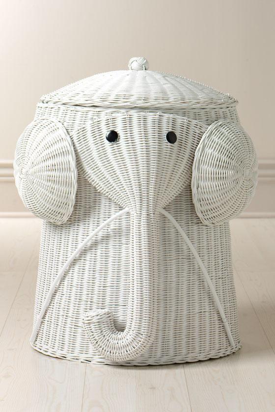Keely Harris What About Elephants Too Rattan Elephant Hamper
