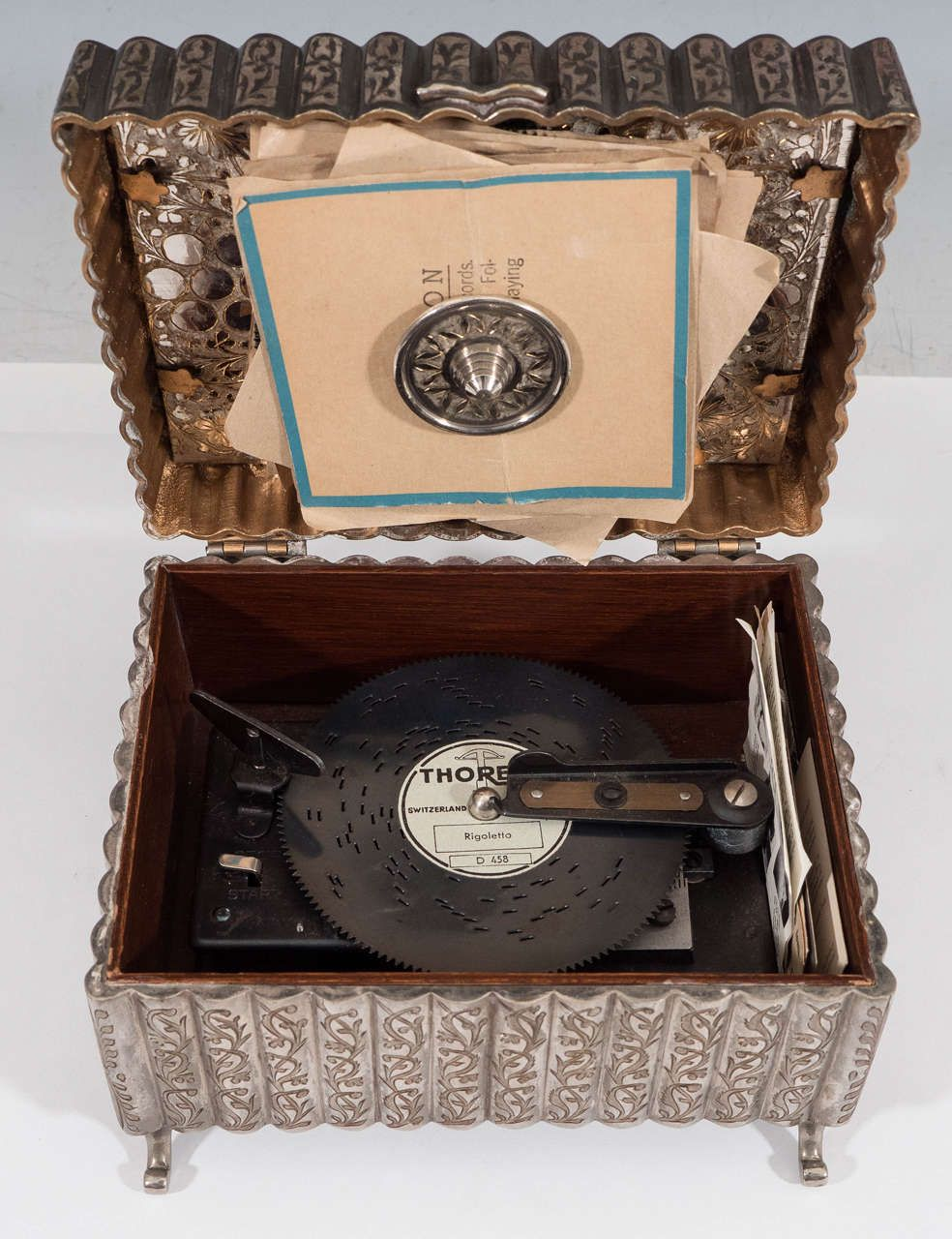 A Midcentury Silverplate Thorens Music Box By Fred Zimbalist