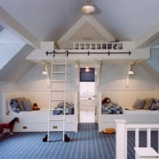 I Plan On Having Lots Of Kids At Least So If Space Is Limited Just Love The Idea A Loft Bed Built Into Eaves House With