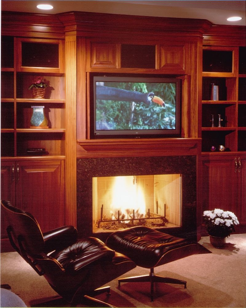 Tv Over Fireplace Ideas Tv And Fireplace Combo