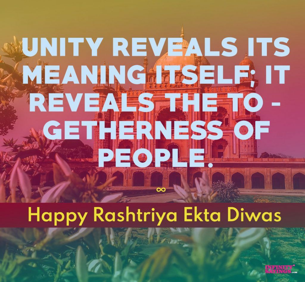 National Unity Day Of India Slogans Quotes Slogan Quote