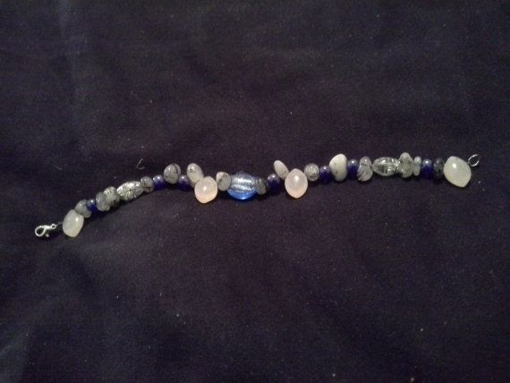 Blue And Gray Bracelet 7.5 Inches by SimplyDaily on Etsy, $14.00