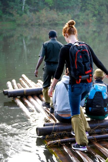 Trekking, rafting with a Timbuk2