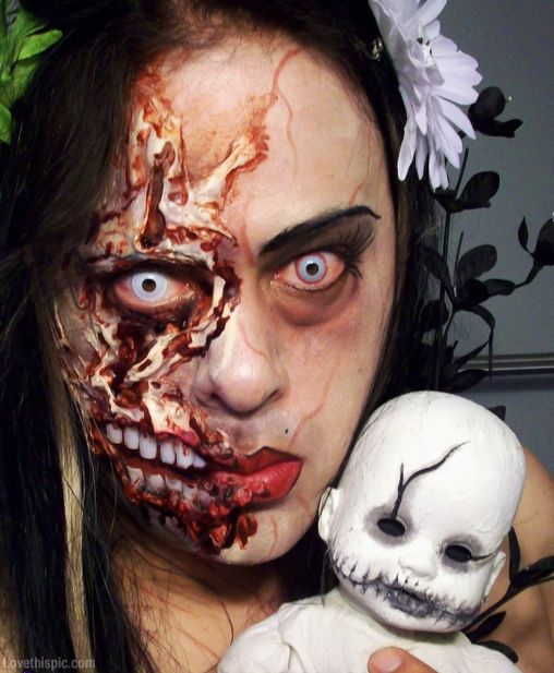 zombie makeup makeup scary zombie effects halloween costumes adult costume ideas - Halloween Effects Makeup