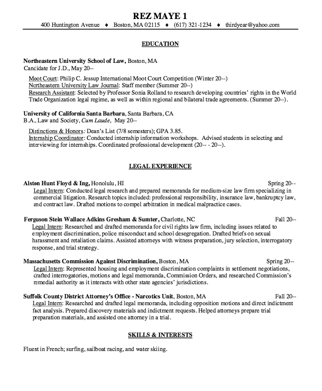 Graduate Coursework On Resume