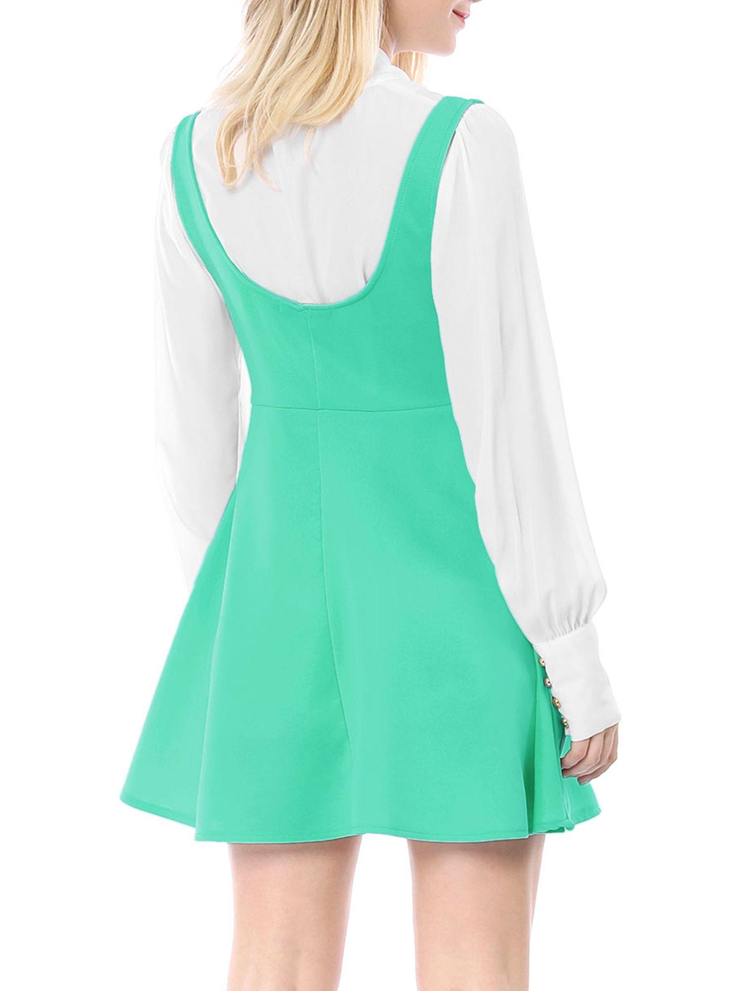 Unique Bargains Unique Bargains Women S Above Knee Flared Hem Suspender Skirt Dress Walmart Com Hem Dress Dresses Casual Winter Suspender Dress [ 2000 x 1500 Pixel ]