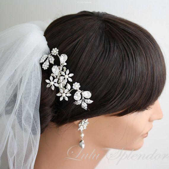 Wedding hair comb Swarovski Crystal Hair Vine by LuluSplendor