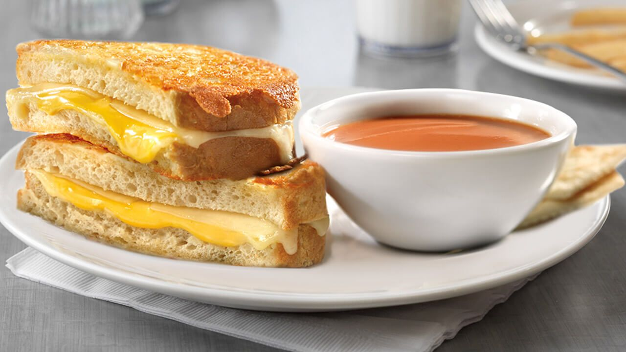 Ultimate Grilled Cheese & Tomato Basil Soup
