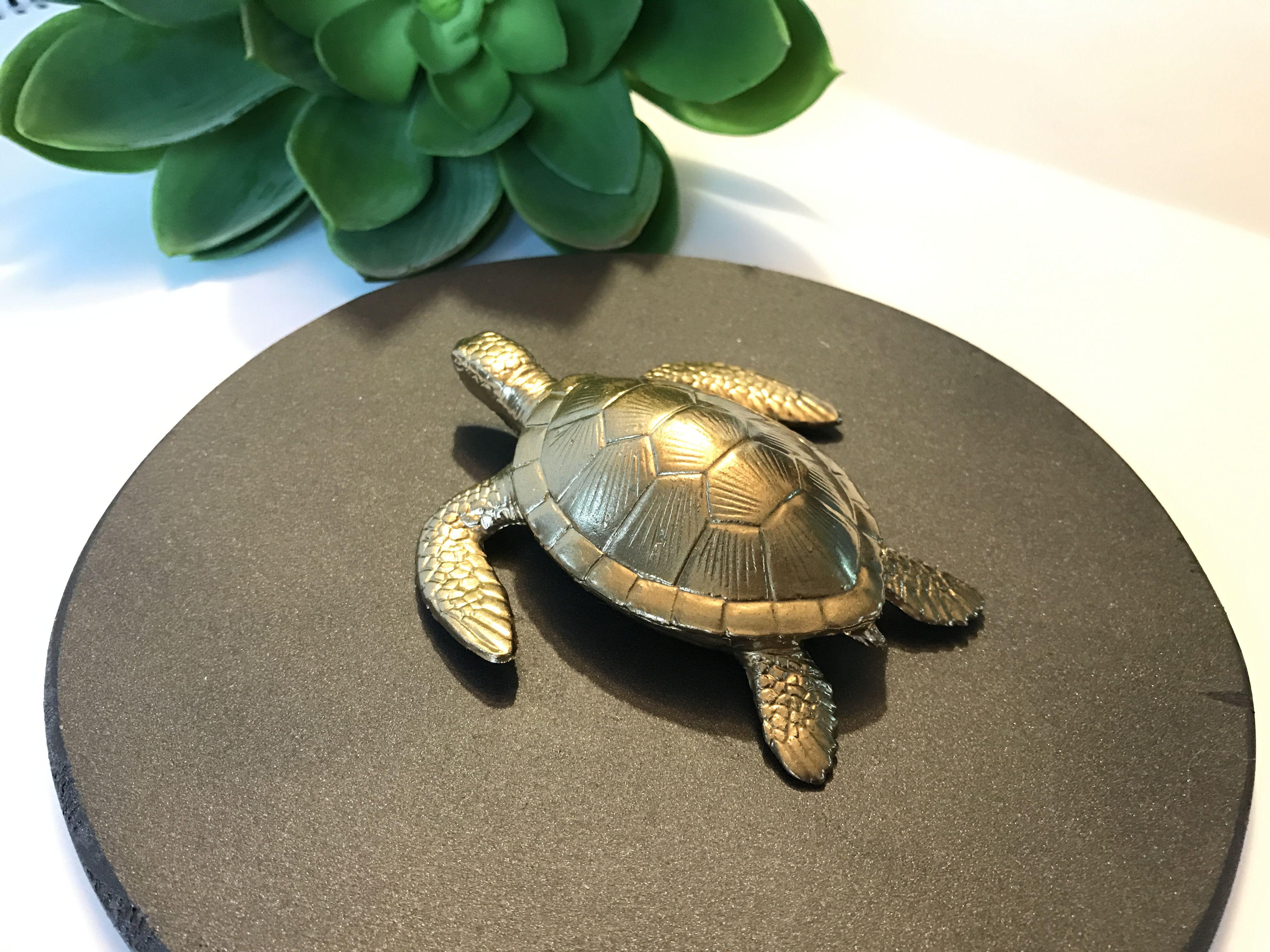 Gold Sea Turtle Home Decor