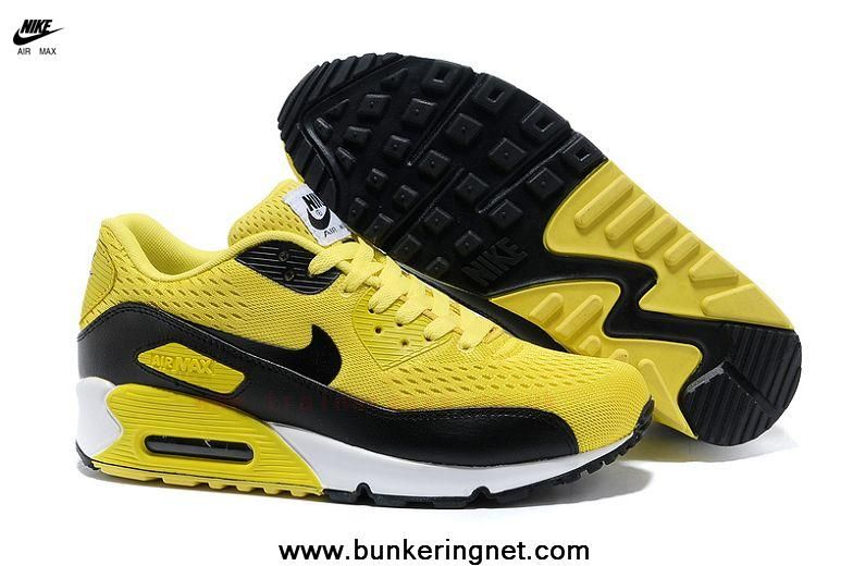 e01da1c5d43f Yellow Black Nike Store For Air Max 90 Premium EM Mens Trainers For  Wholesale