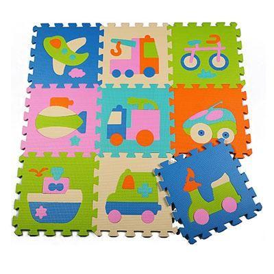 9Pcs Soft Foam  Baby Activity Play Mat Non Toxic Jigsaw Puzzle