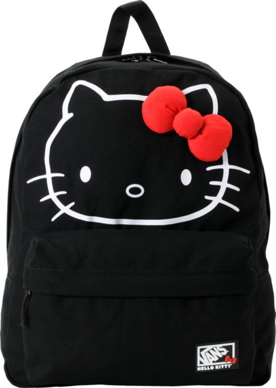 fa853261b9 Vans x Hello Kitty Red Bow Black Backpack in 2019