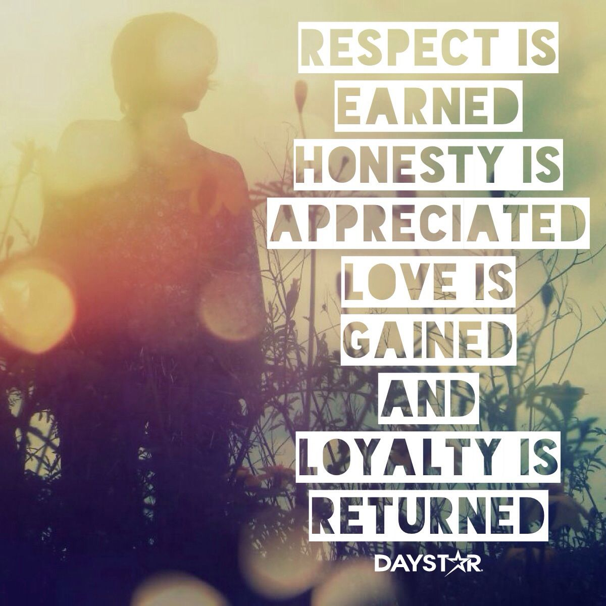 Respect Is Earned Honesty Is Appreciated Love Is Gained