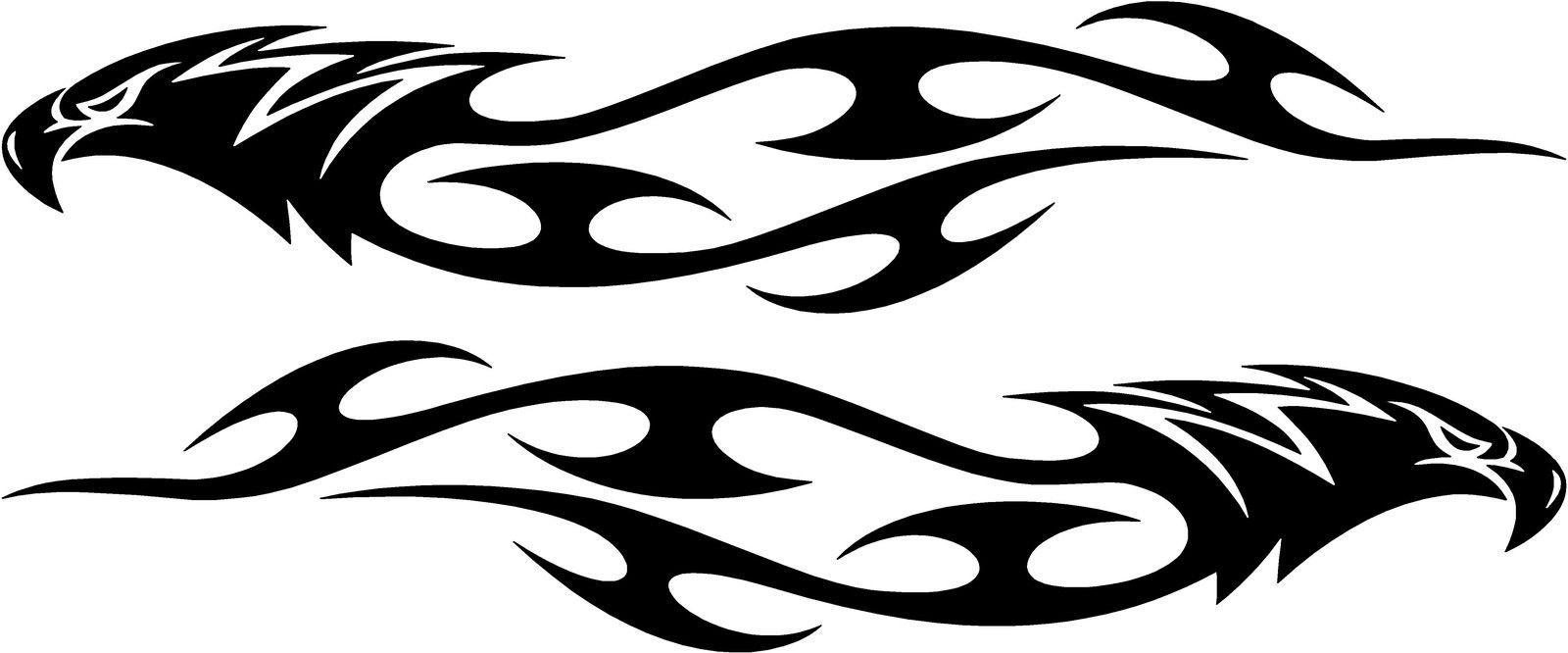 2 5 pair eagle flames tribal decals each is 1 8x9 choose color vinyl sticker ebay home garden