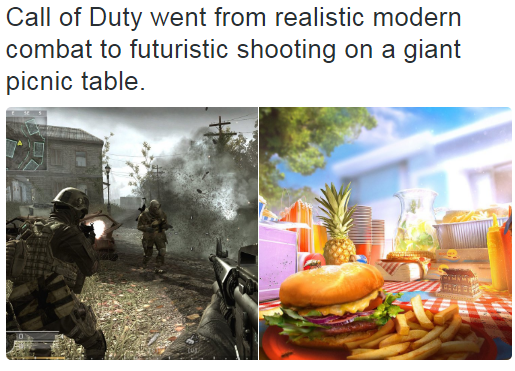 Call of Duty Then and Now.