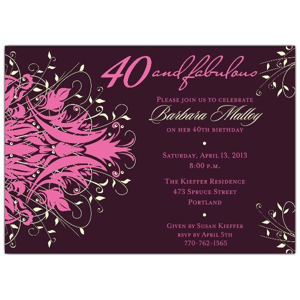 40th birthday invites – frenchkitten, Birthday invitations