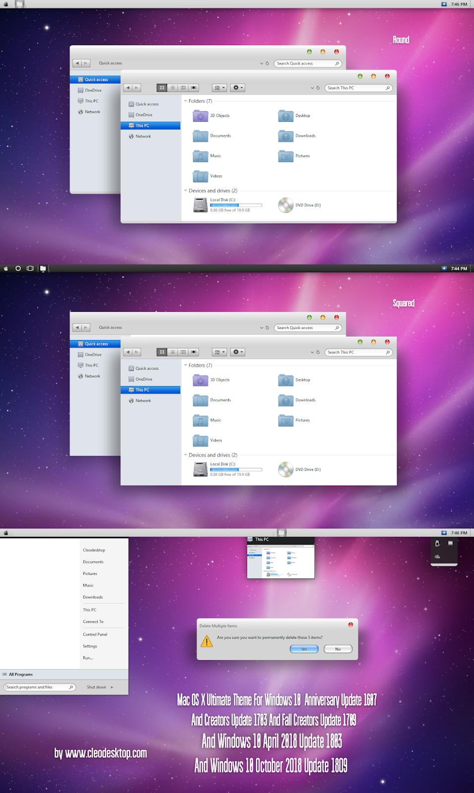 Windows10 Themes I Cleodesktop: Mac OS X Ultimate Theme Windows10