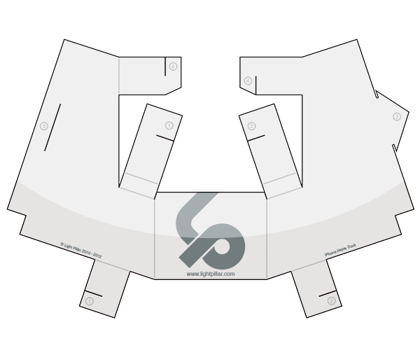 Light Pillar - Paper Dock For Iphone