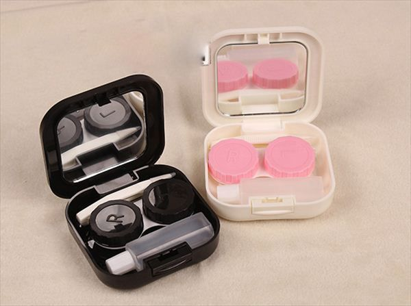 60a59c22189 Buy from china New Crystal Flower Travel Eye Contact Lenses Case Box Care  Kit Mirror Box with Tools