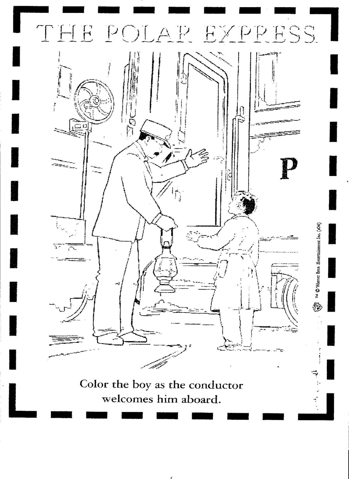 Polar Express Coloring Pages Printable Christmas Coloring Pages