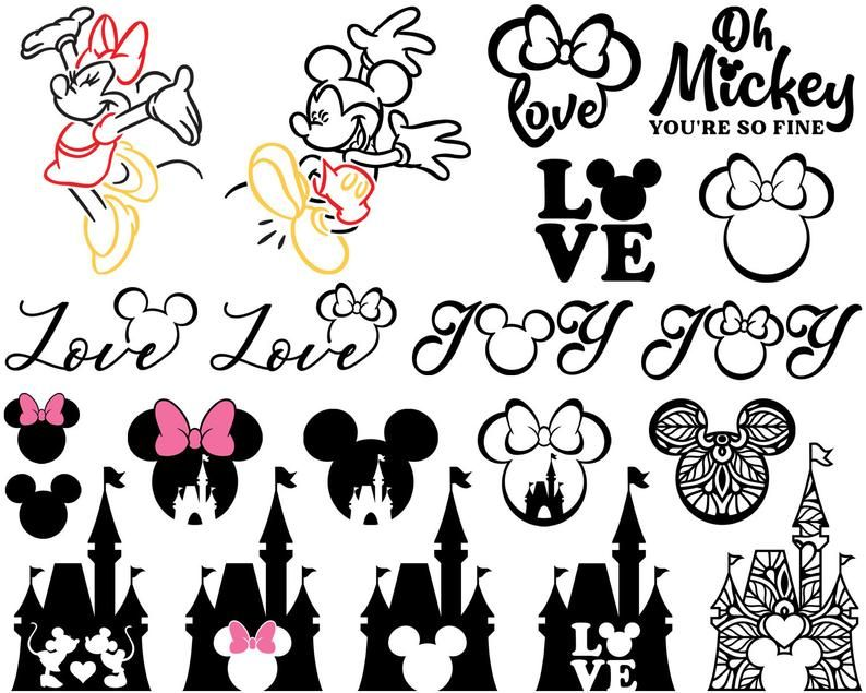 Download Mickey Mouse SVG Minnie Mouse SVG Mickey Head Mickey Love ...