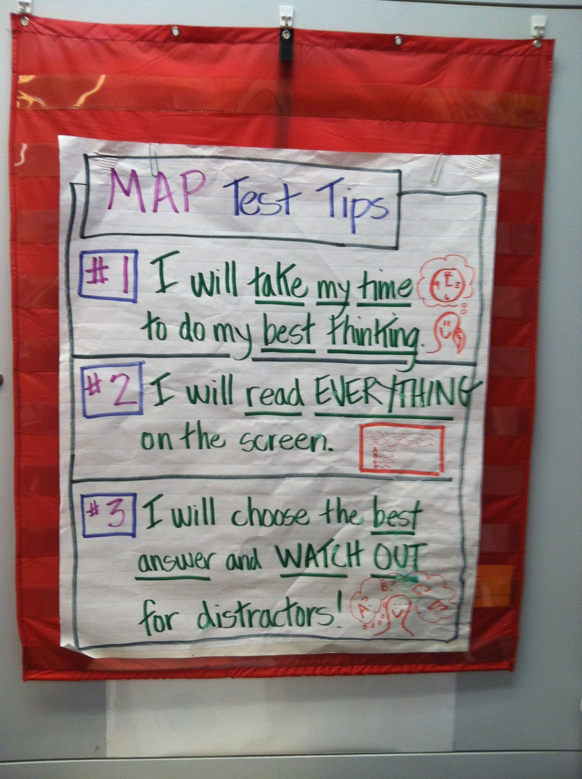 MAP Testing Tips | NWEA Map Testing | Pinterest | Anchor charts ...