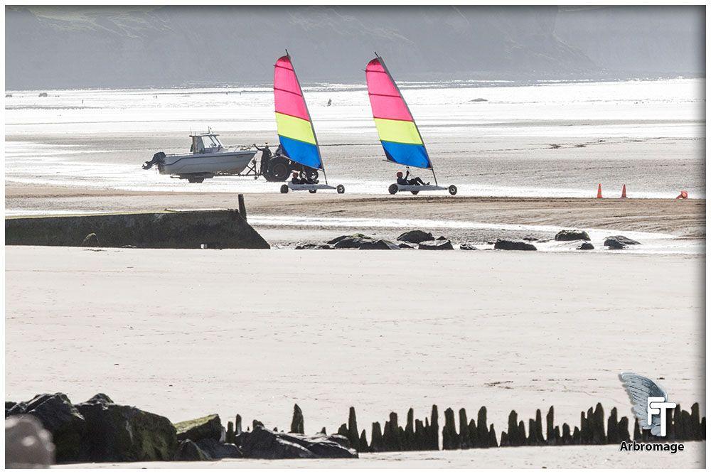 Loisir Char A Voile Bord De Plage Arromanches Calvados Normandie France Sport Et Loisir Char A Voile Art