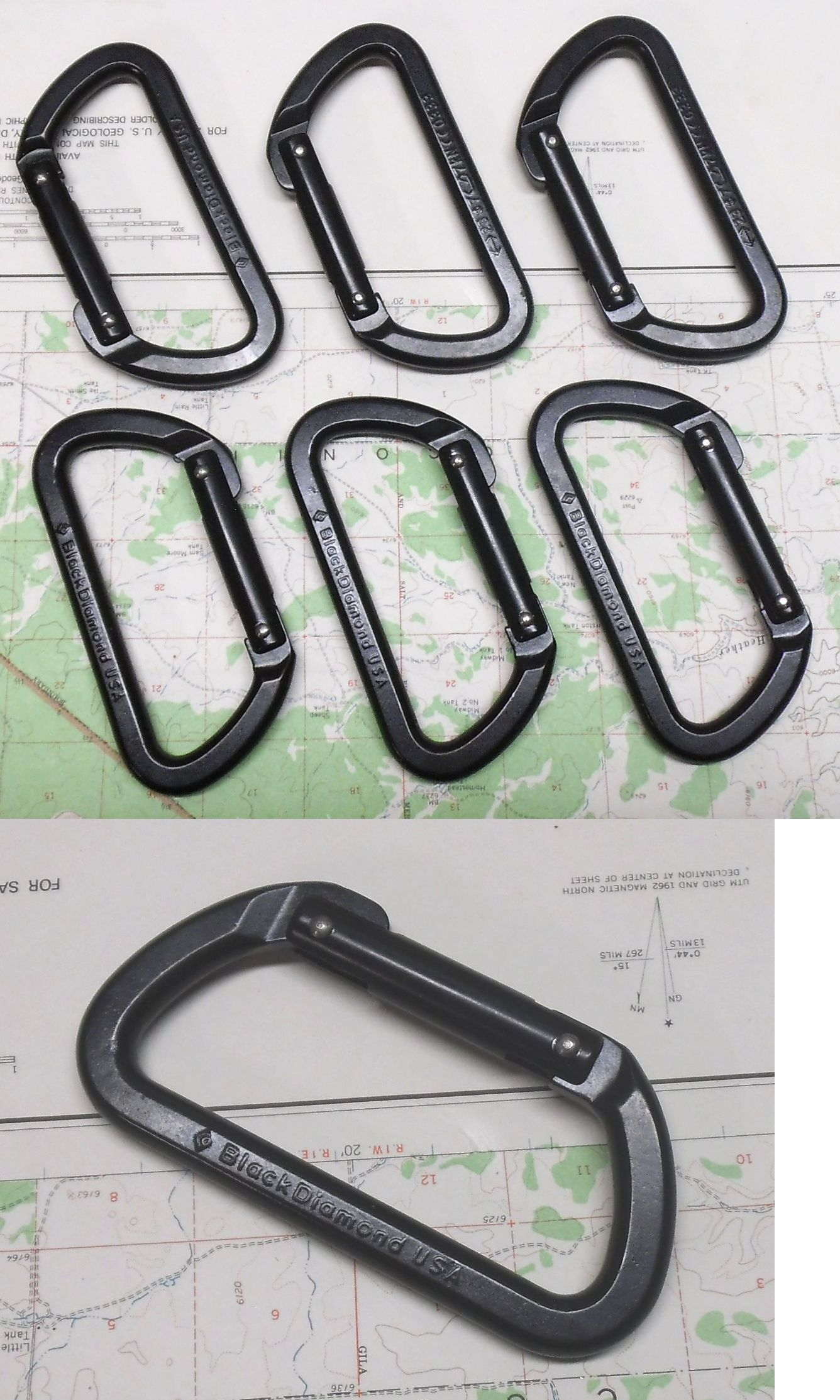 Carabiners and Hardware 50814: Black Diamond Light D Carabiner 6 Pak Rock Climbing Trad Alpine Ice Biner Black BUY IT NOW ONLY: $35.5