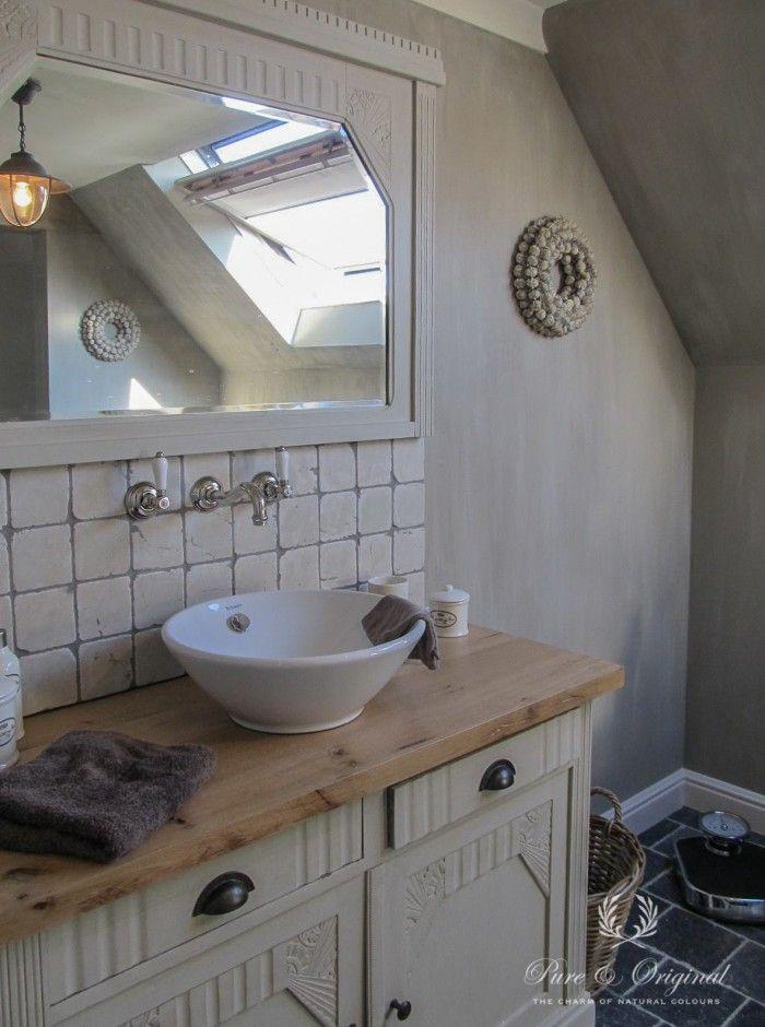 Dank aan Sandra die een foto instuurde van haar badkamer. Gedaan met ...