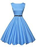 cool Swing Gown for Ladies 50s Classic Sleeveless Dimension XS F-1
