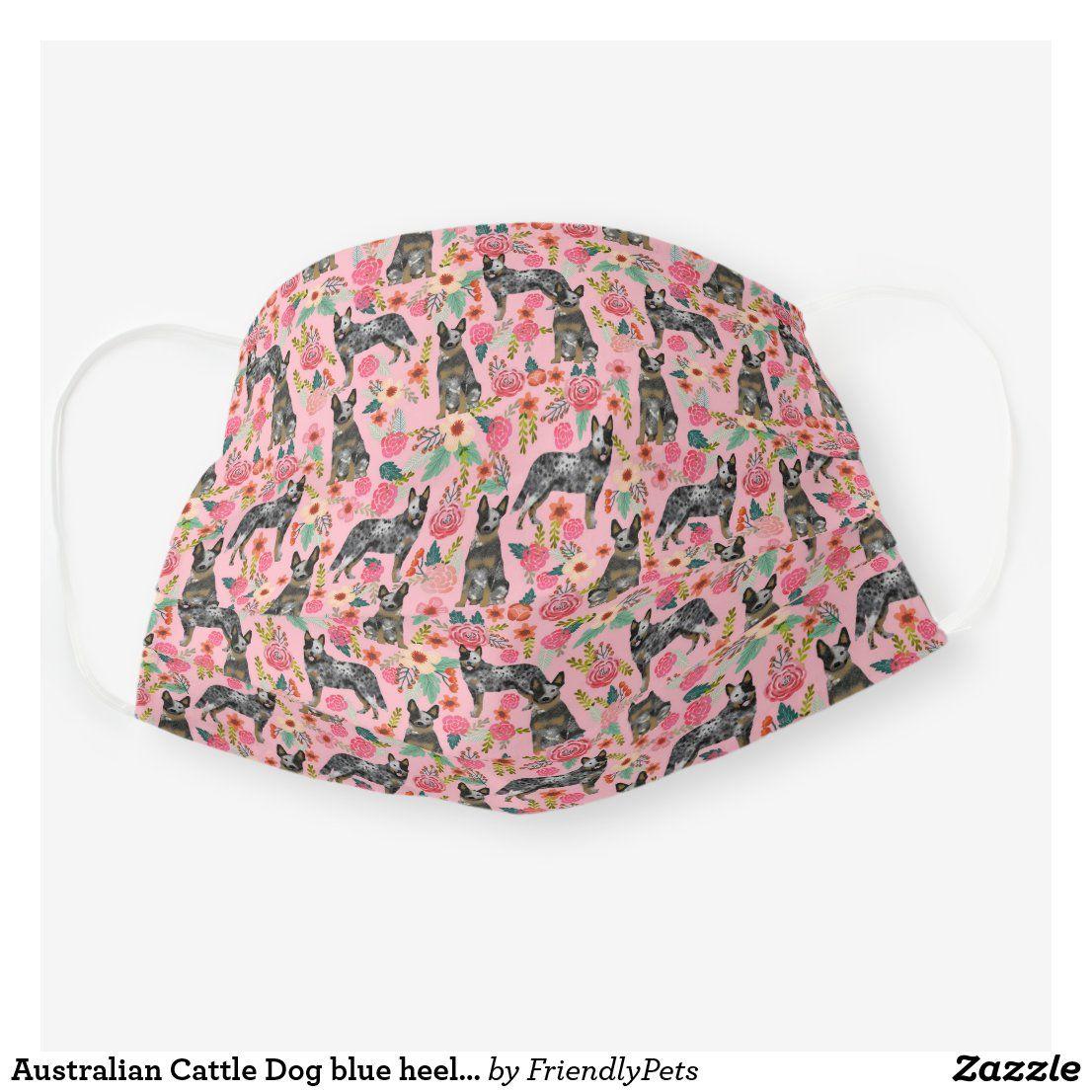 Australian Cattle Dog blue heeler vintage pink Cloth Face