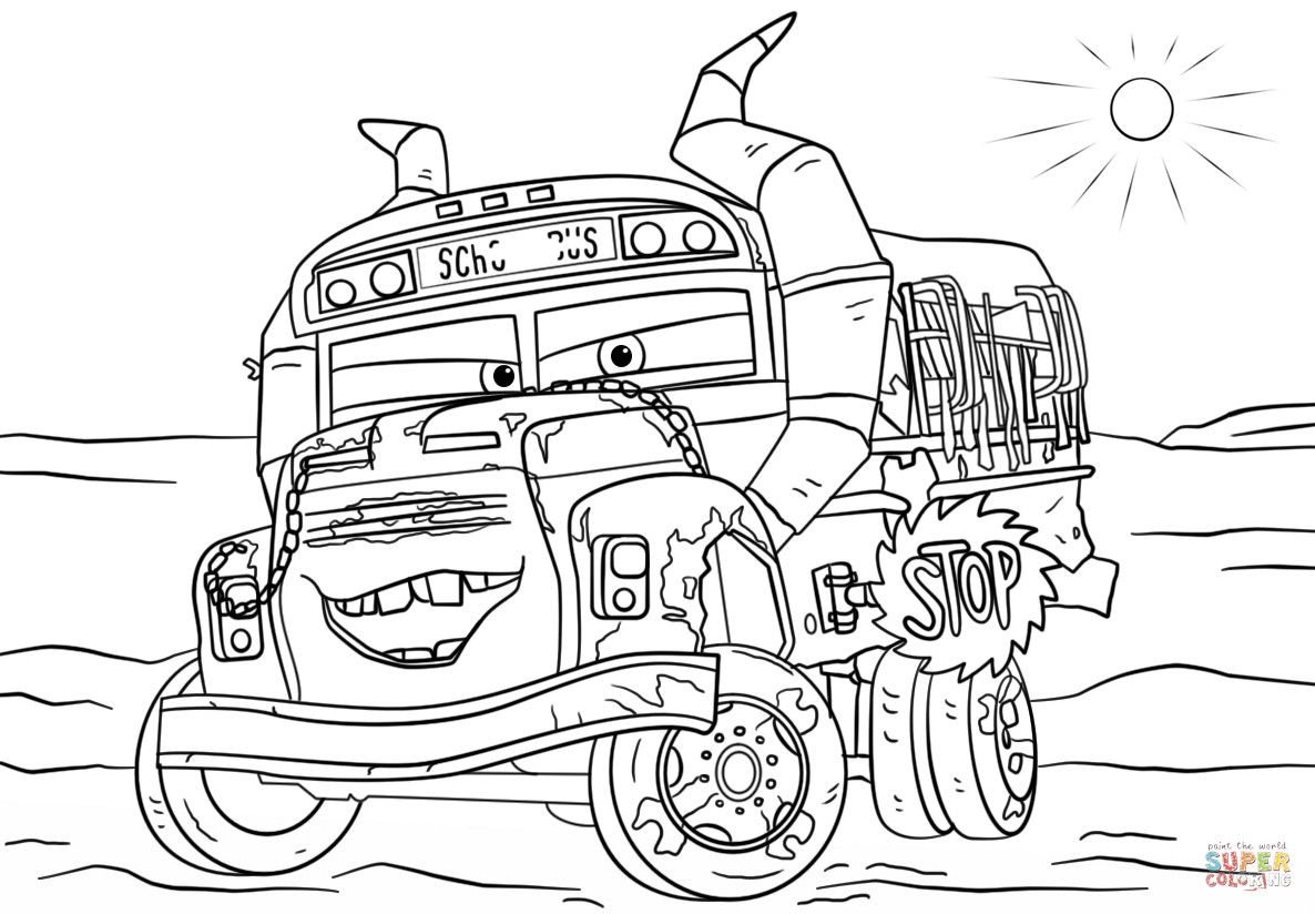 Cars 3 Coloring Pages Fresh Miss Fritter From Cars 3 Coloring Page Disney Coloring Pages Cars Coloring Pages Truck Coloring Pages