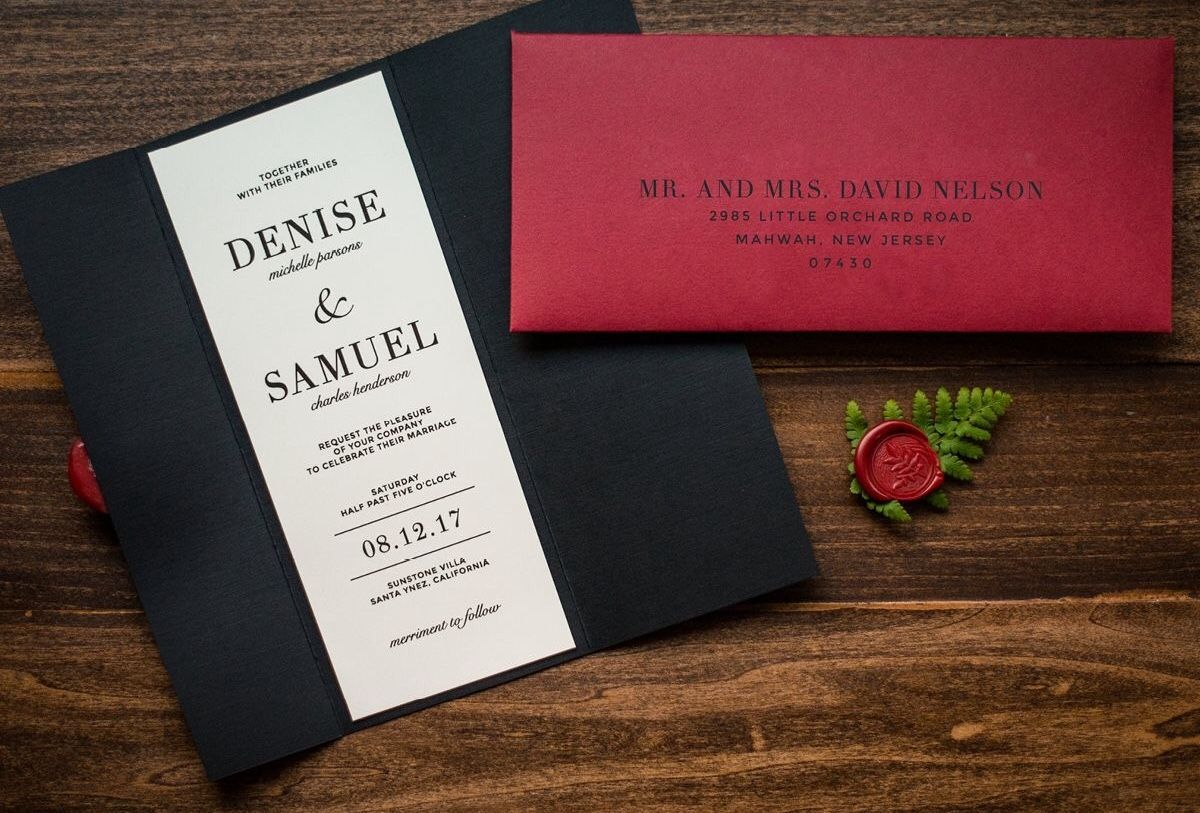 Black Tie Affair Wedding Invitations- Sample | Wedding Invitations ...