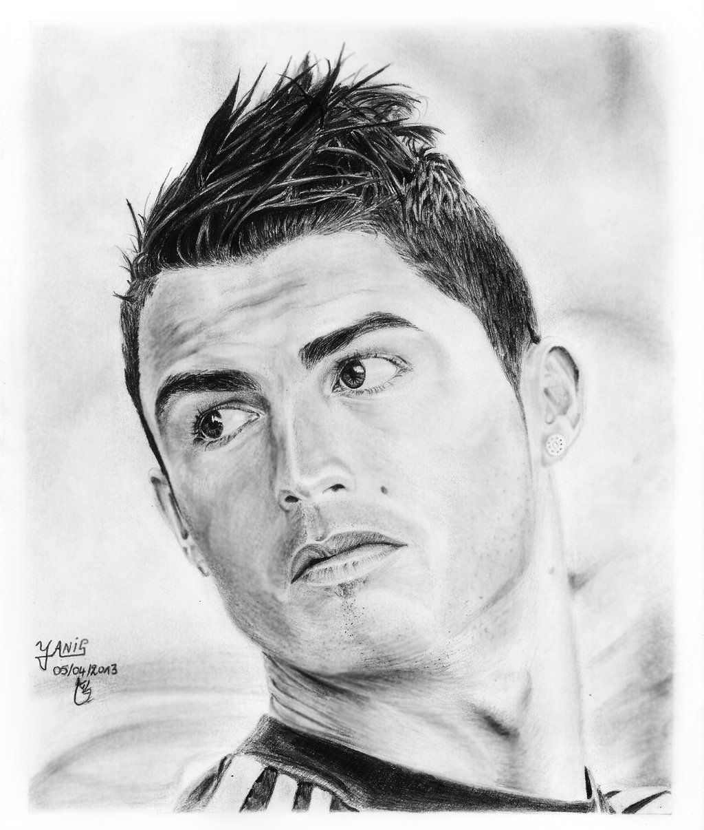 Cristiano Ronaldo Pencil Art Drawings Celebrity Drawings Ronaldo