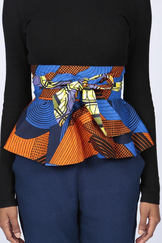 Palau Print Peplum Belt Image African Fashion African