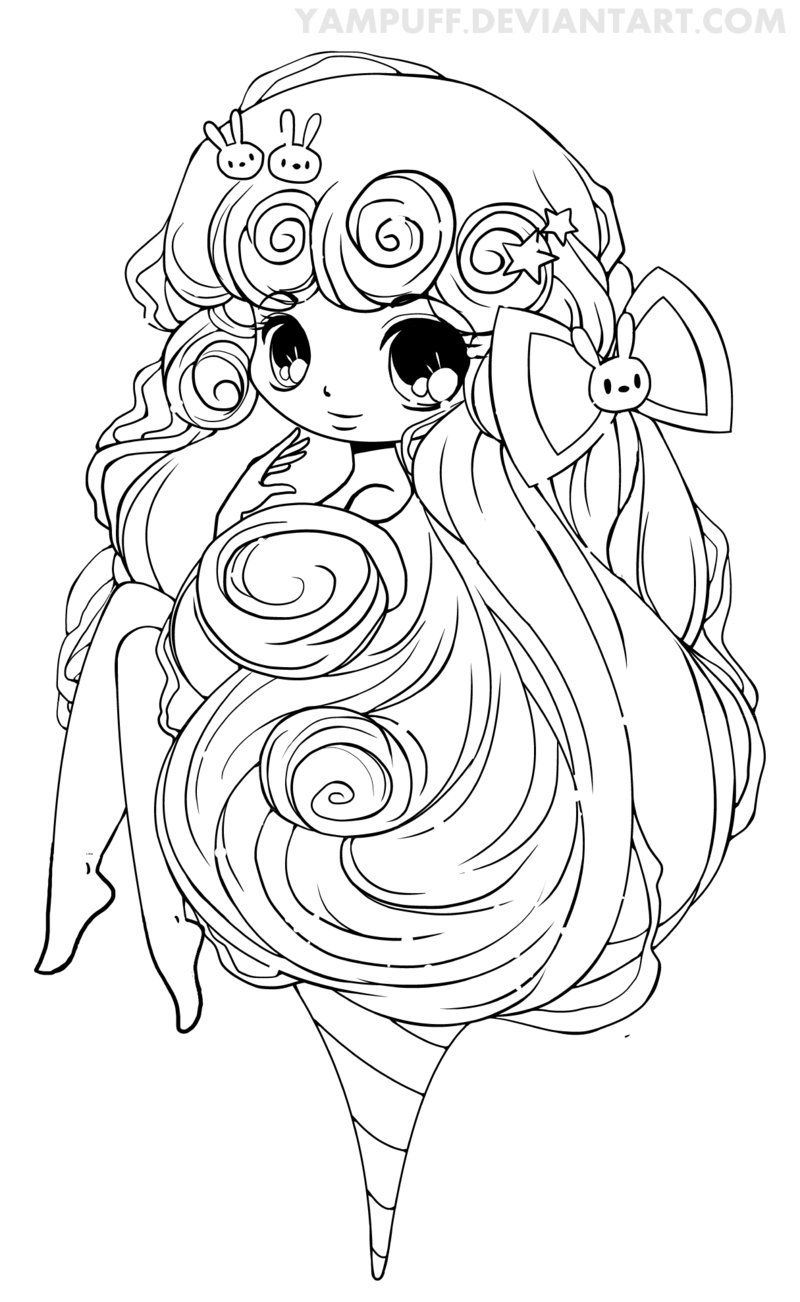 Cotton candy lineart by yampuff on deviantart stamp coloriage manga coloriage disney et - Coloriage manga a colorier ...