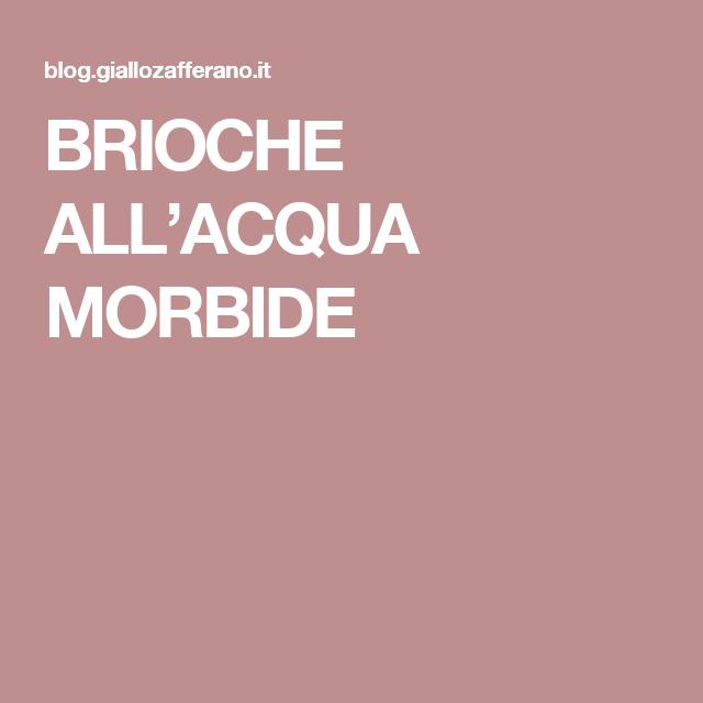 BRIOCHE ALL'ACQUA MORBIDE
