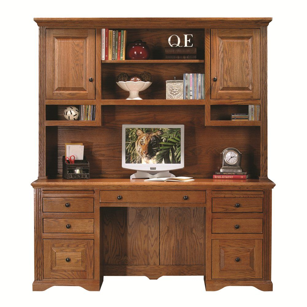 Great Shop Eagle Furniture Oak Ridge Double Pedestal Desk With Hutch At ATG Stores.  Browse Our