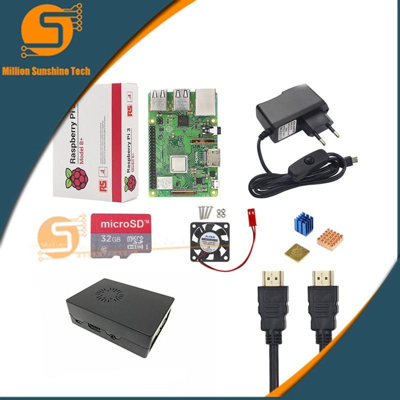 UK Raspberry Pi 3 Model B+/3 Starter Kit + Case + 16 /32G SD