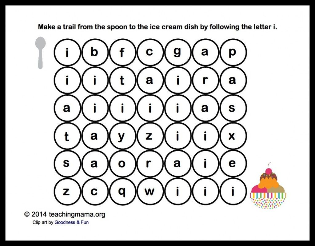 I Is For Ice Cream Letter I Printables In