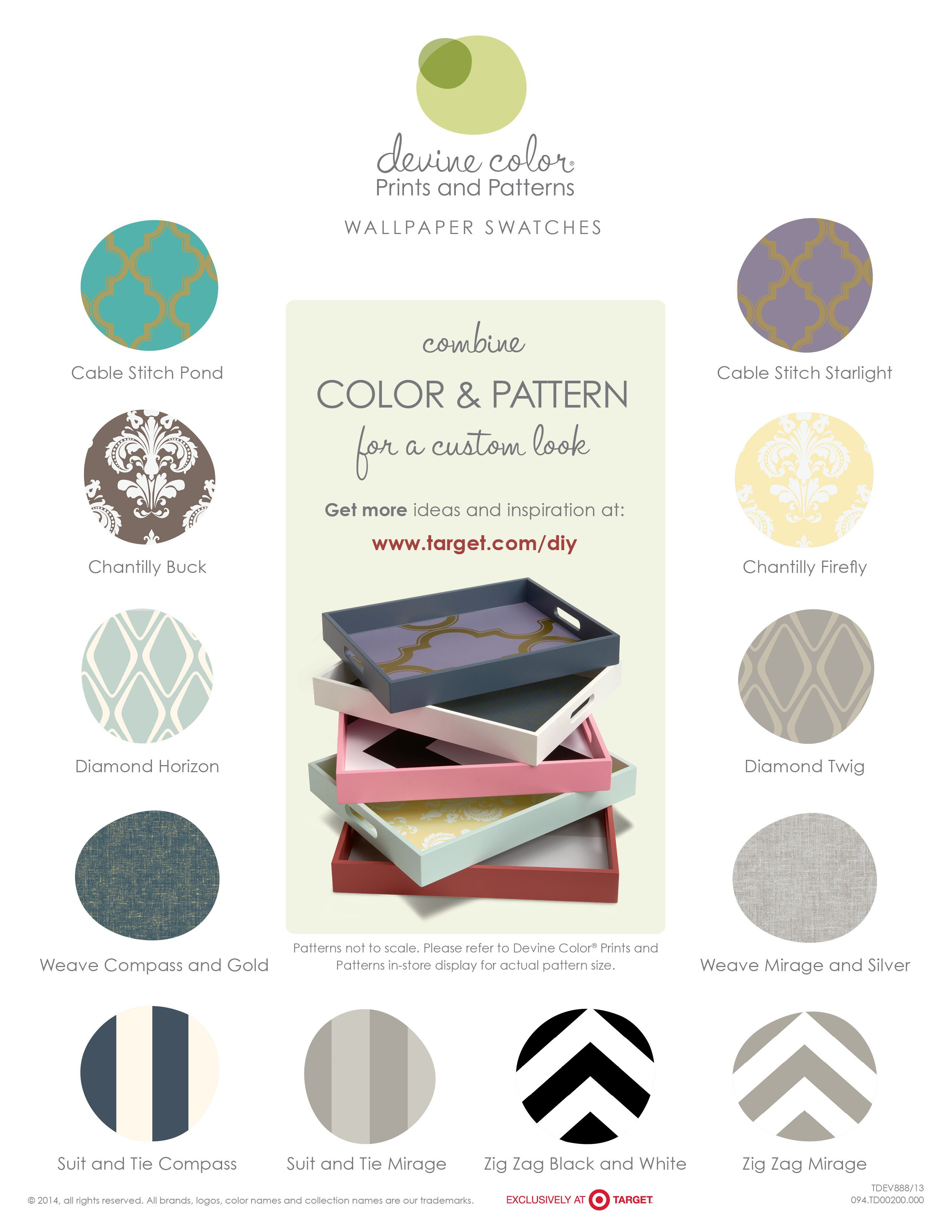 The new Devine Color repositionalble wallpaper collection
