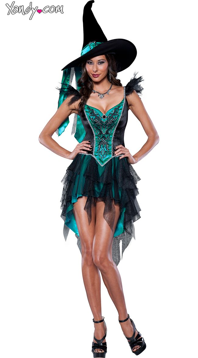 Deluxe Turquoise Witch Costume  sc 1 st  Pinterest & Deluxe Turquoise Witch Costume | Witch costumes Witches and Turquoise