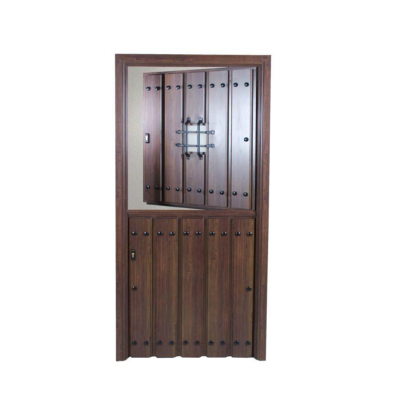 Puerta rustica partida con postigo puertas pinterest for Puertas de entrada de aluminio rusticas